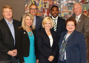 Board Members (left to right): Tom Barton, Lisa Wittman, Mike Donohue, Tami Ryan, Anderson Sainci, Nancy Bradley, Jim Prochaska