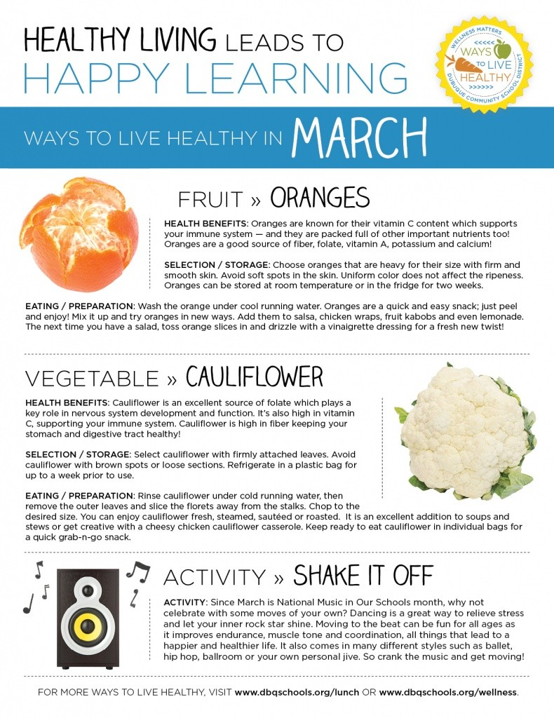 Ways to Live Healthy in March