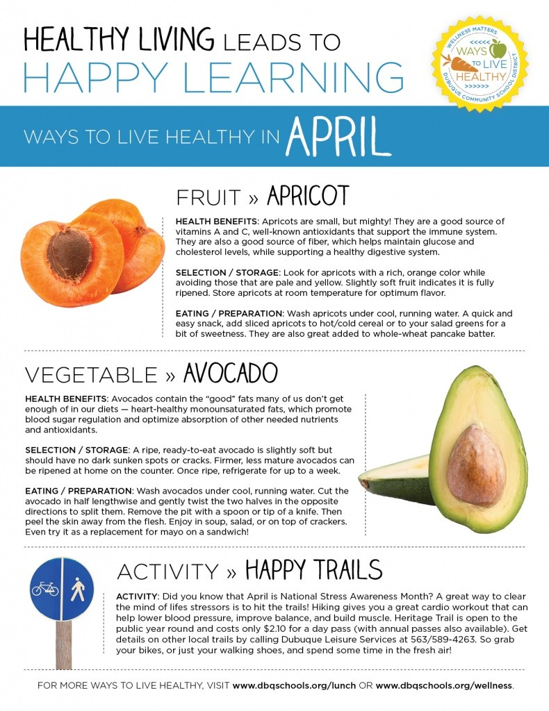 Ways to Live Healthy in April