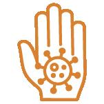 Dcsd icon germ prevention ORANGE outline