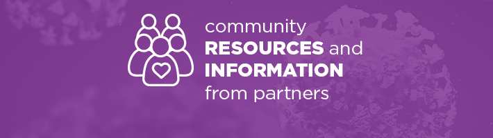 Coronavirus Information: Community Resources Header