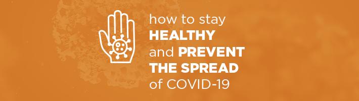 Coronavirus Information: Prevention Resources Header