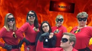 Grade 4 Team dressed as Incredibles