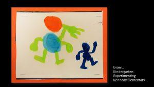Artwork by Evan, Kindergarten