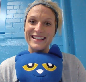 Jess with Pete the Cat