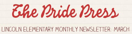 March Pride Press newsletter logo