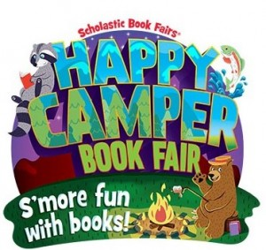 190114 LG happy camper book fair clip art logo