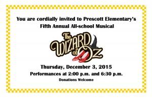 Prescott Elementary 5th Annual All-school Musical