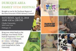 Dubuque STEM Festival Postcard 2018