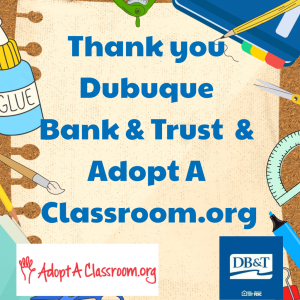 Dubuque Bank & Trust Thank You