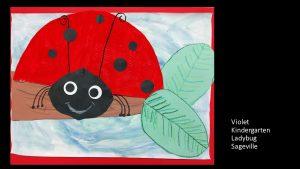 Artwork by Violet, Kindergarten