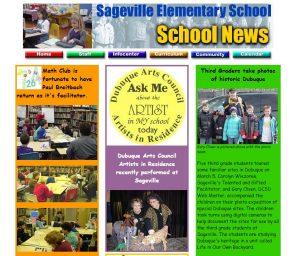 Photo of old Sageville website