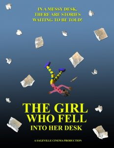 "Movie poster of fifth grade animated movie ""The Girl Who Fell Into Her Desk"""