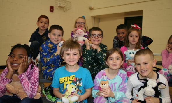 Students Ready for the Pajama Party Musical