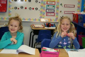 Students on Crazy Hair Day