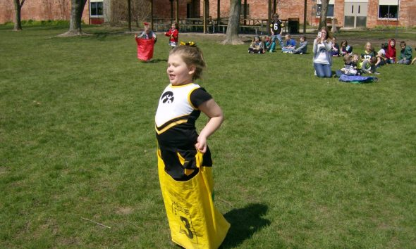 News students participate in games for week of the young child