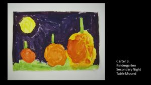 Artwork by Carter, Kindergarten