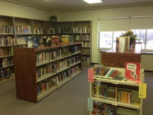 Library books - facing southwest corner.