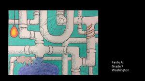 Artwork by Fantu, Grade 7