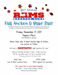 Fall Auction Flyer 2017 NEW