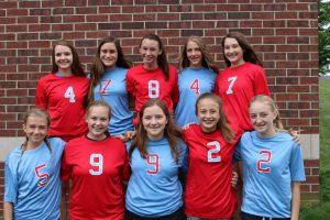 2017 Freshman Scarlet Volleyball Team
