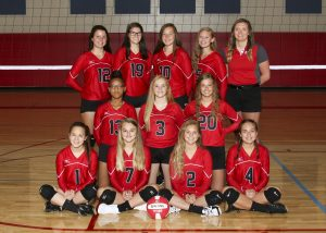 2018 Freshman Scarlet Volleyball Team