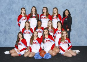2018 Junior Varsity Basketball Blue Cheer Team