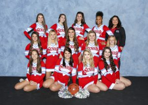 2018 Varsity Basketball Blue Cheer Team