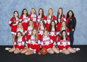 2018 Varsity Basketball Red Cheer Team
