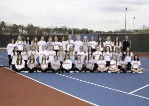2019 Women's Junior Varsity Tennis Team