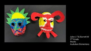 Artwork by Jalen and Barrett, Grade 5