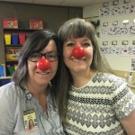 Teachers with red noses