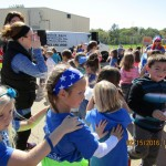Students participate in the walk-a-thon