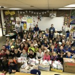 Collection of donated items from Kindergarten students