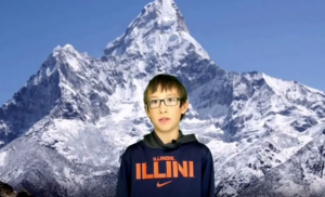 4th Graders explore ecosystems and the American west using green screen