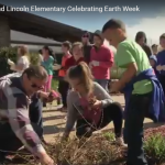 Earth Day 2017 Students and staff members clean up the Eisenhower school yard and neighborhood