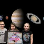Mrs. Bushman's kids pose in outer space