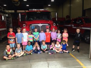Mrs. Block's students visit the fire station