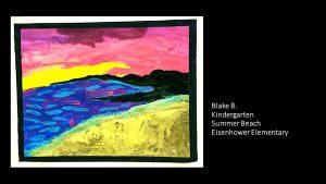Artwork by Blake, Kindergarten