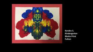 Artwork by Kendra, Kindergarten