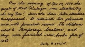 Historic letter 1880