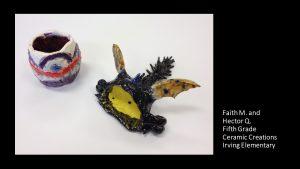 Artwork by Faith and Hector, Grade 5
